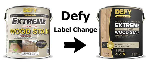 Defy Extreme Clear 1 Gallon Label Change