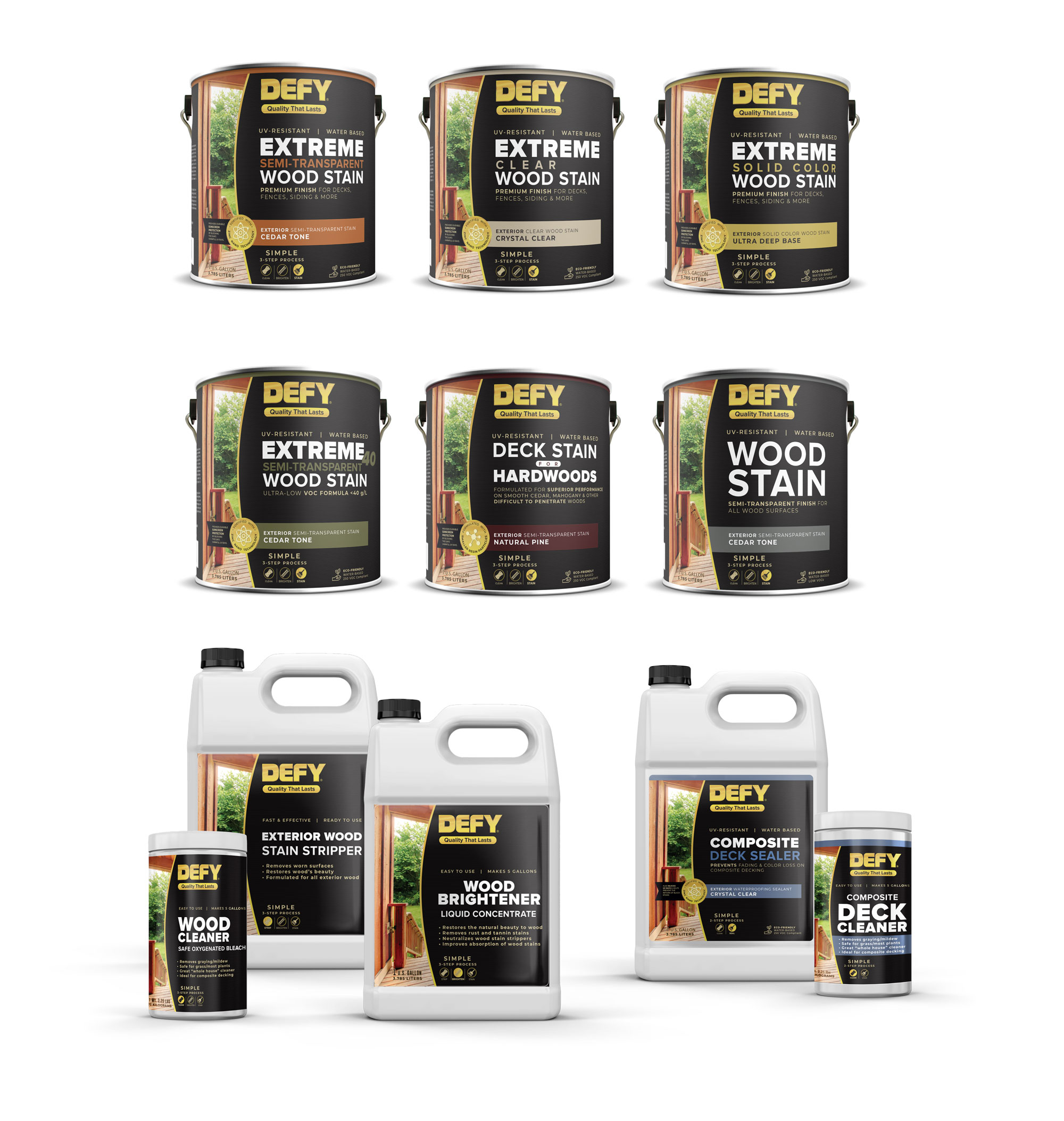Defy Stain New Product Labels