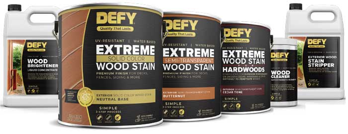 defy wood deck stains